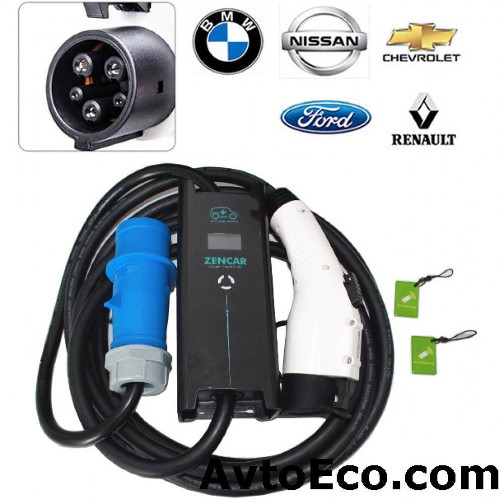 Зарядное устройство Zencar J1772 Nissan Leaf, Volt, Ford Focus, BMW i3 и др (Превью №1)