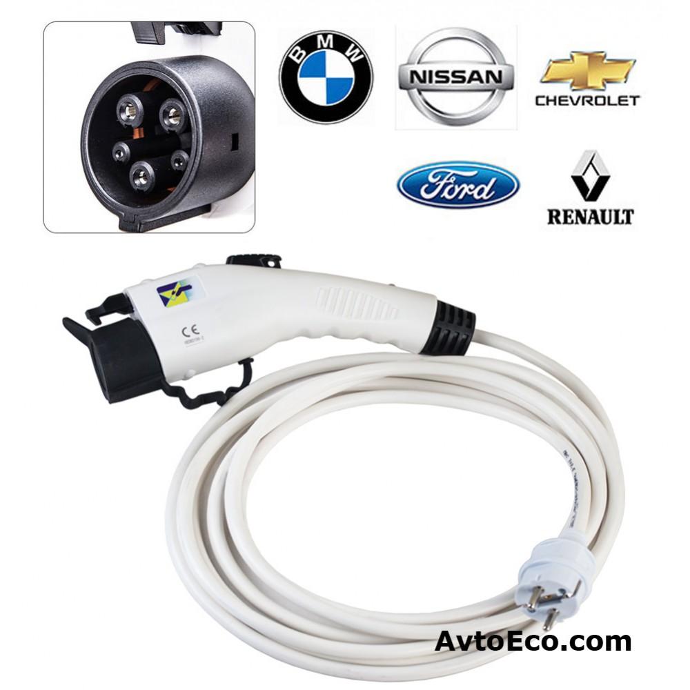 Переносные зарядные устройства для электромобилей Nissan Leaf, Chevrolet Volt, Ford Focus, BMV i3, Tesla, Smart, Renault (Превью №1)