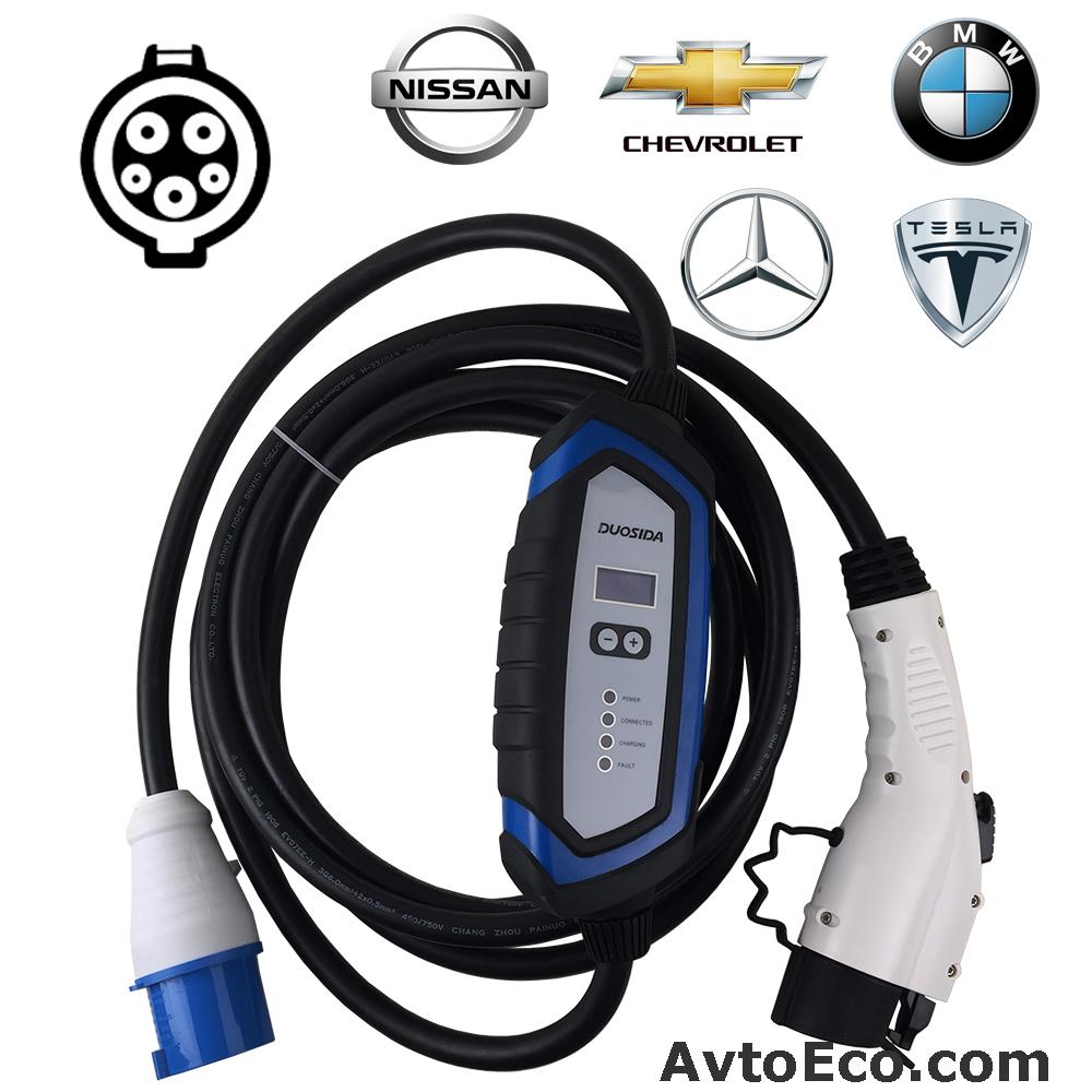 Зарядное устройство для электромобиля Duosida J1772 32A (Превью №1)
