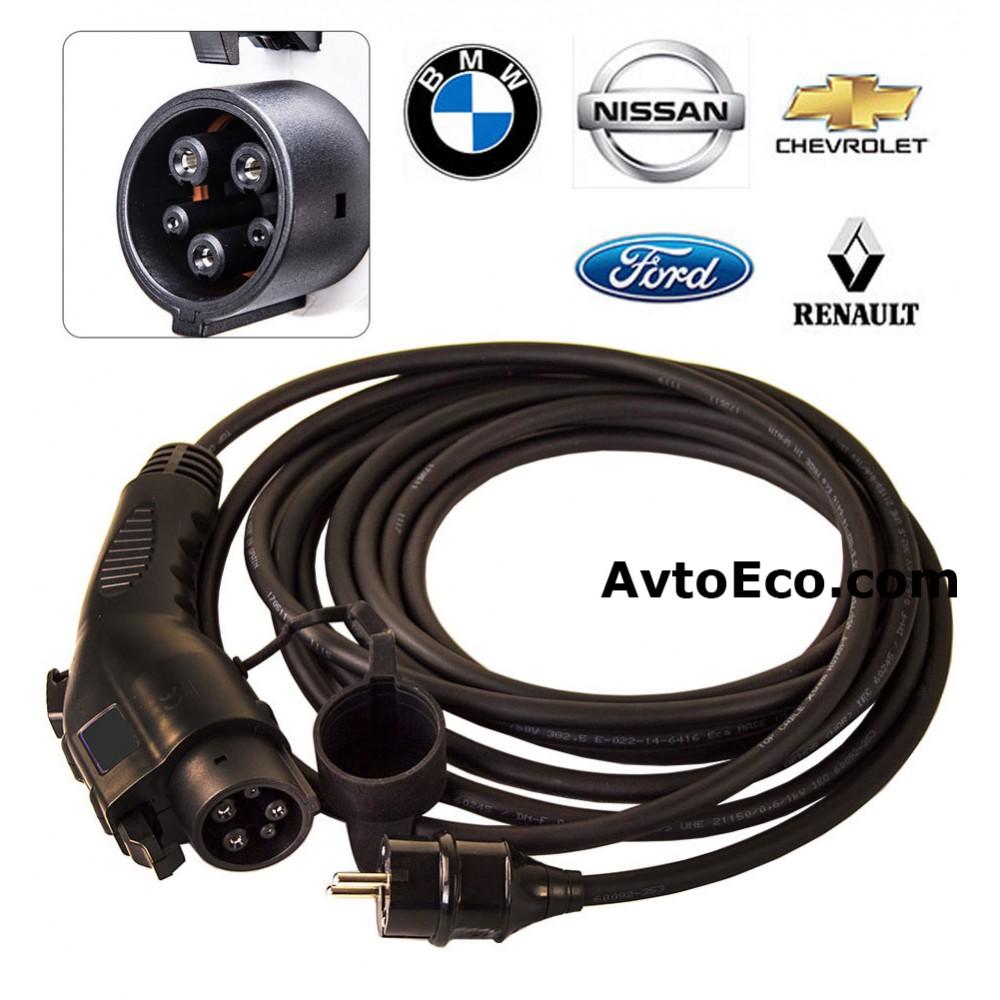 Переносные зарядные станции для электромобилей Nissan Leaf, Chevrolet Volt, Ford Focus, BMV i3, Tesla, Smart, Renault (Превью №1)